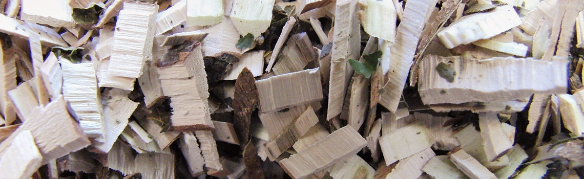Zahradní drtiče  Rozdrcený materiál z větví a keřů